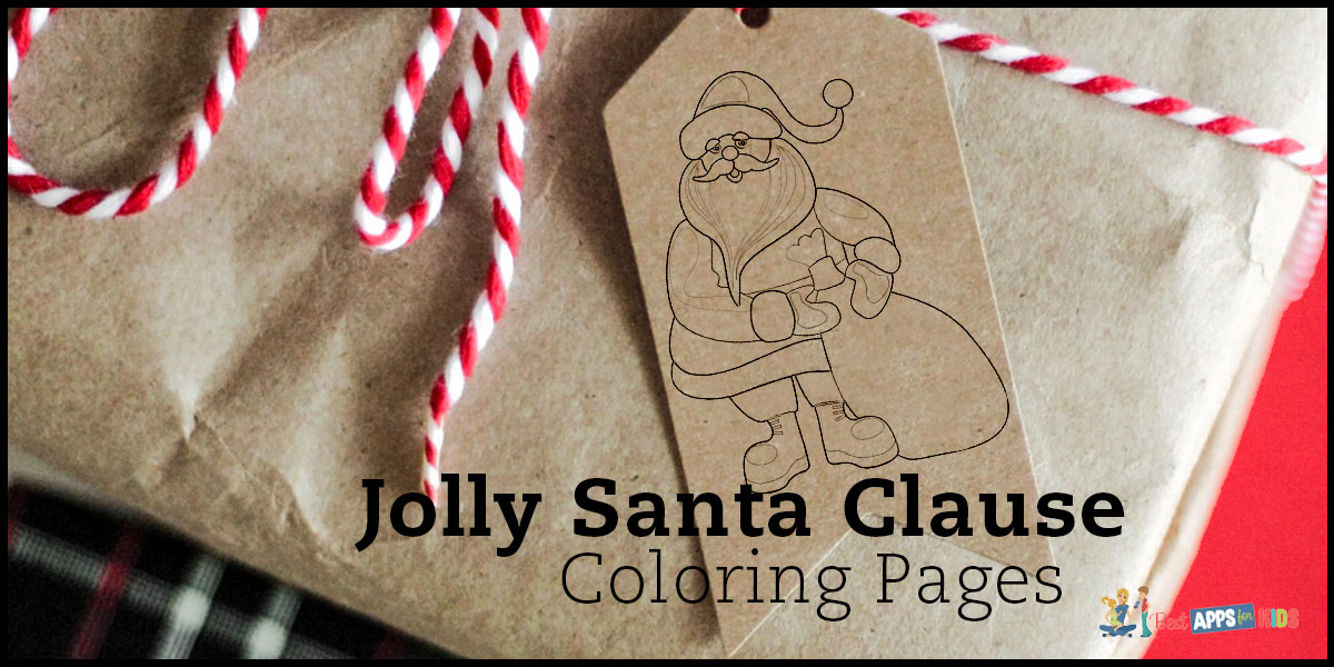 Free Jolly Santa Clause Coloring Pages