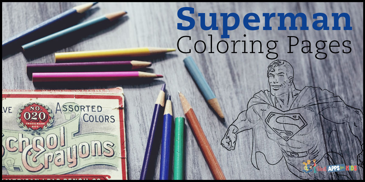 Free Superman Coloring Pages