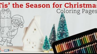 Free Tis' the Season Coloring Pages