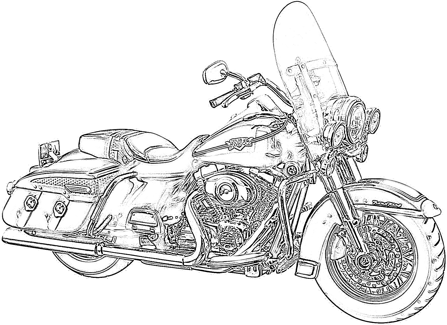 10 Free Harley Davidson Coloring Pages For Kids