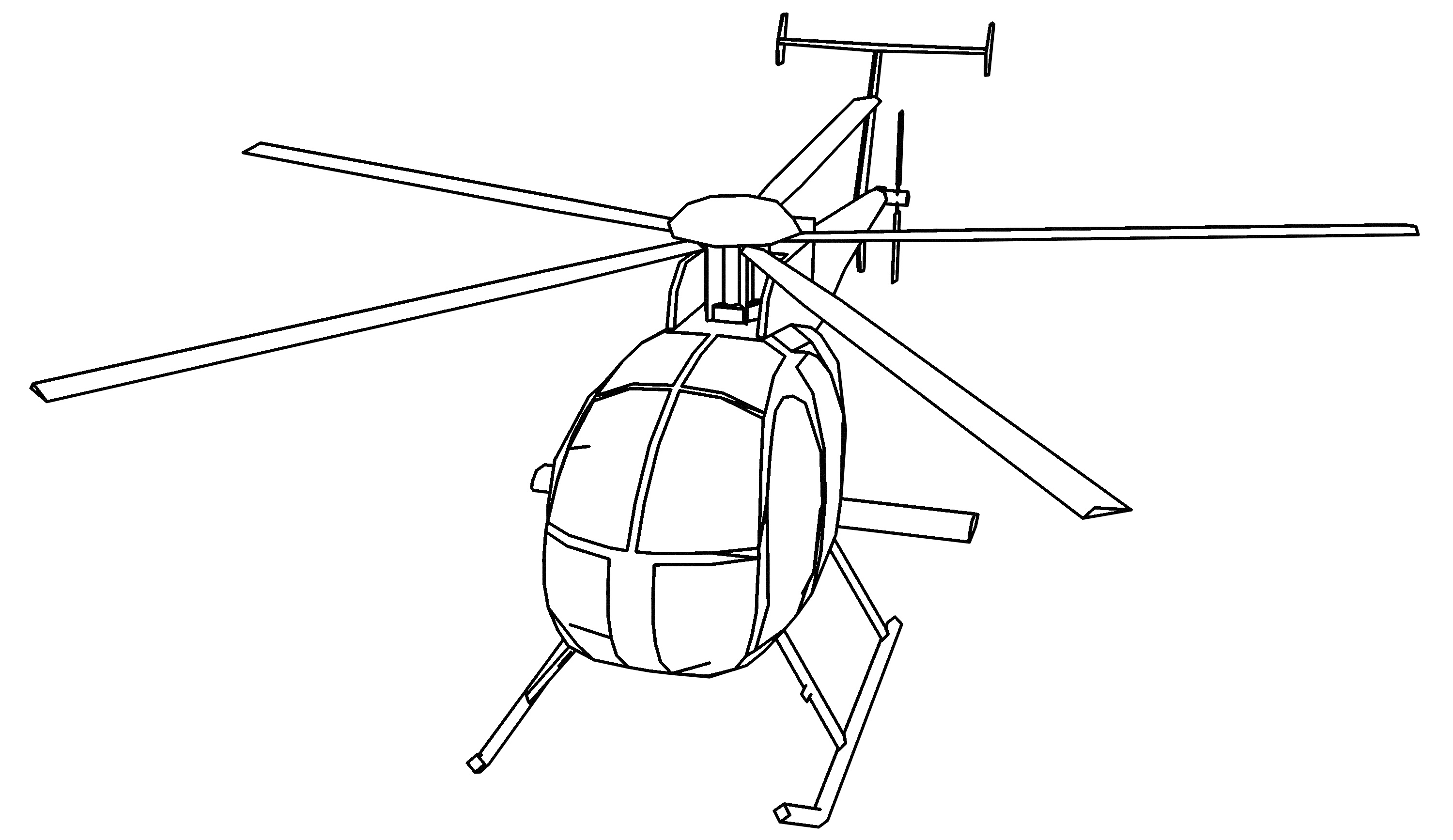 Coloring Pages | Helicopter Coloring Page for Kids | 1734x3000