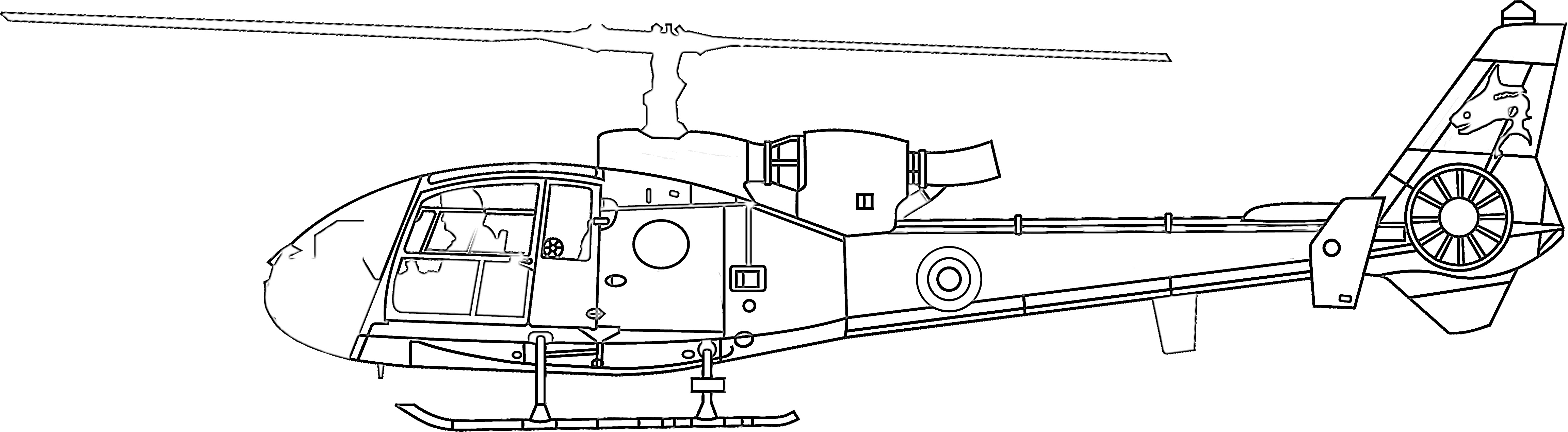 Rescue helicopter coloring page