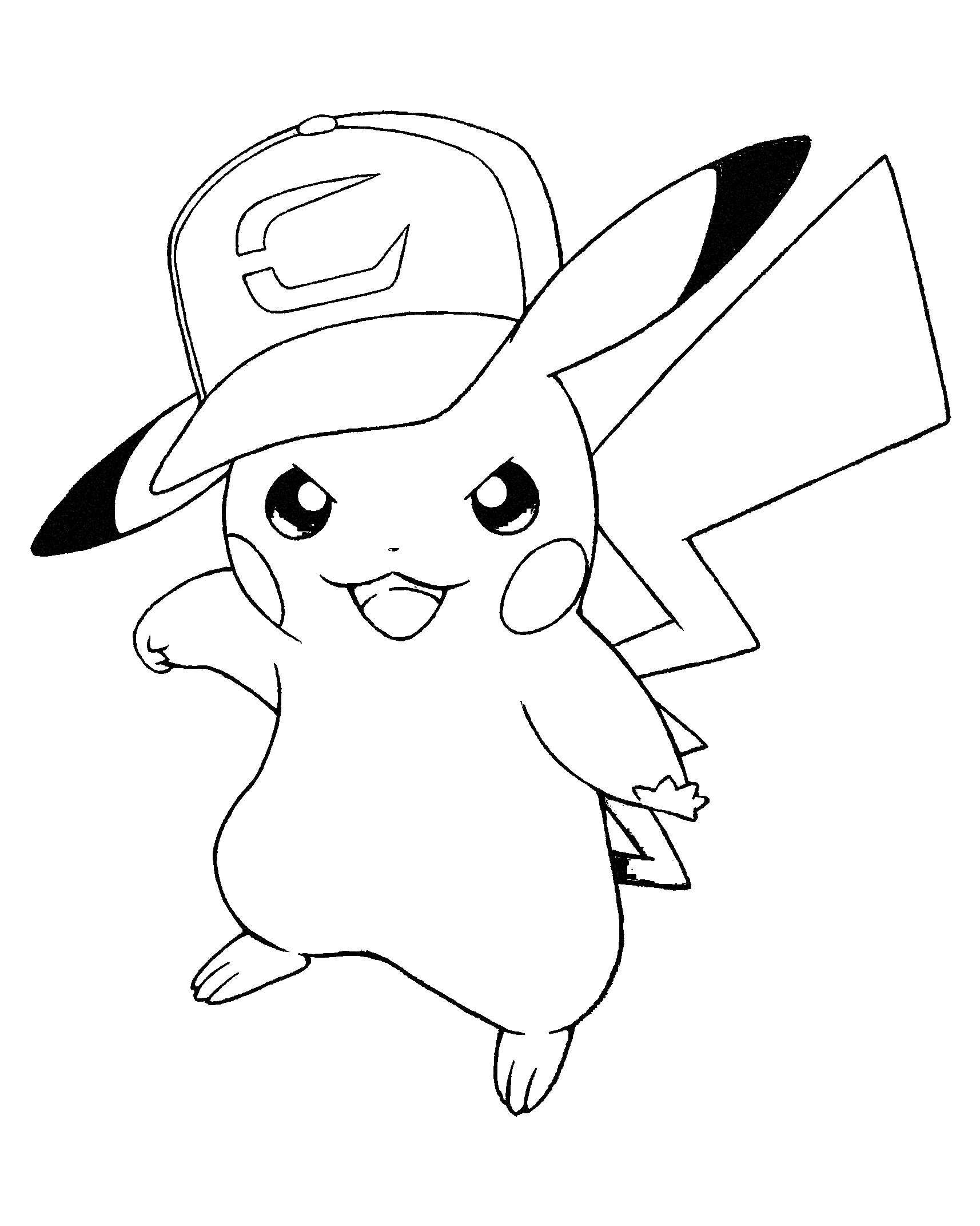 It is a photo of Dashing Coloring Pages Of Pikachu