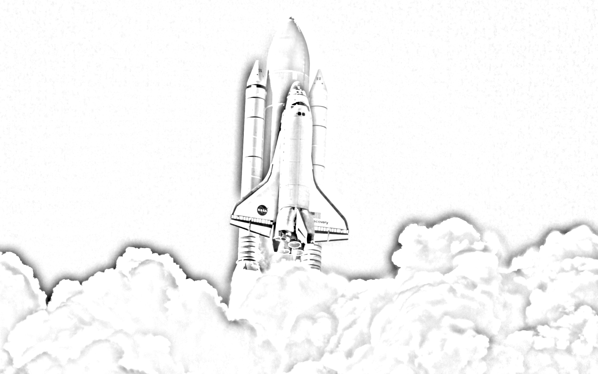 Rocket ship launched coloring page