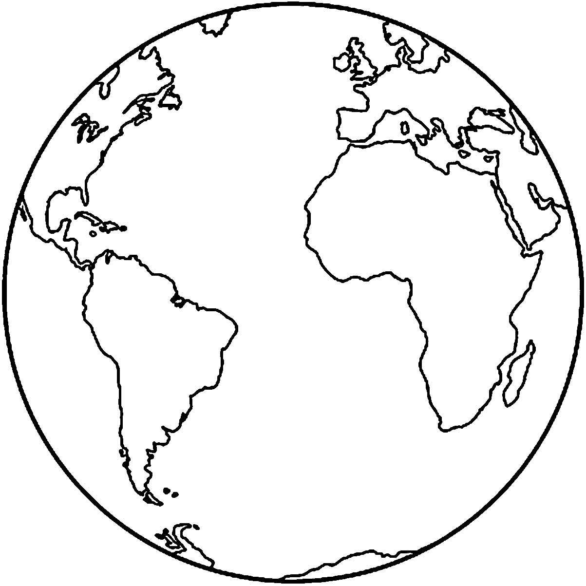 Solar system Earth coloring page