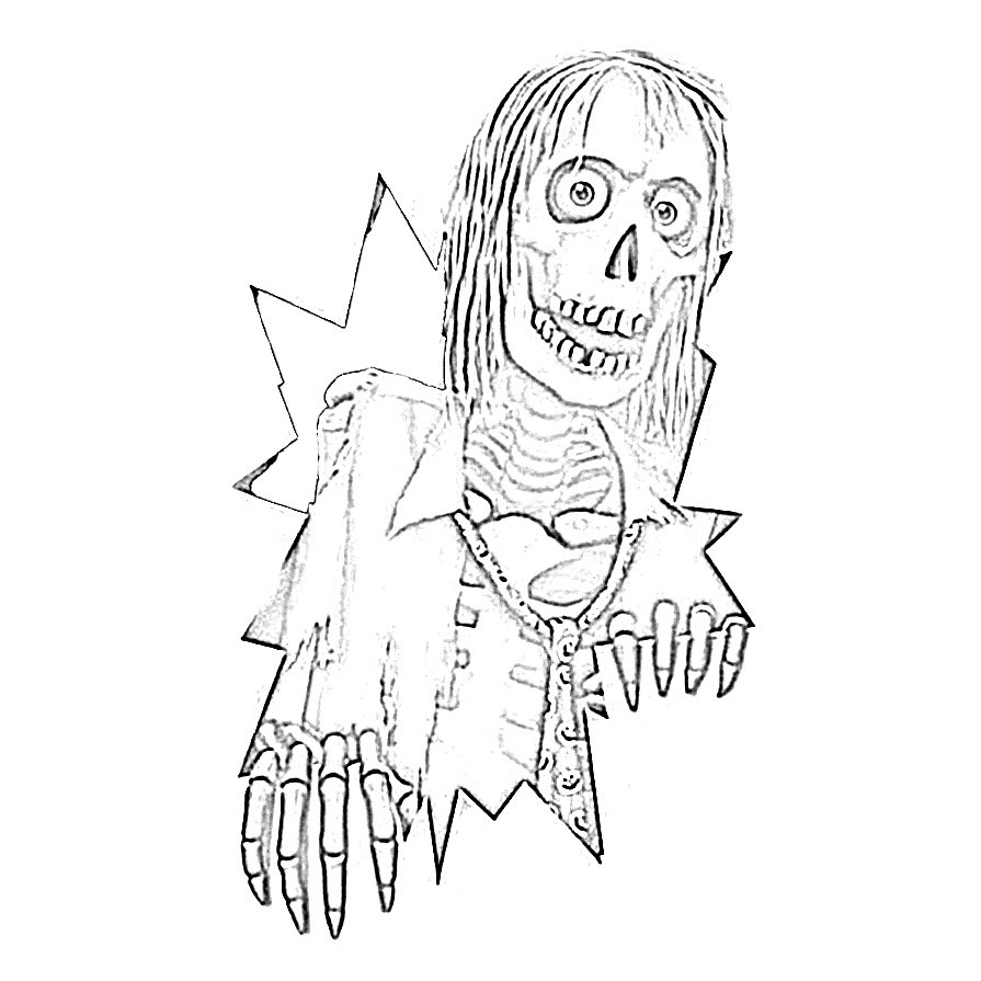 Spooky Halloween Skeleton Coloring Page