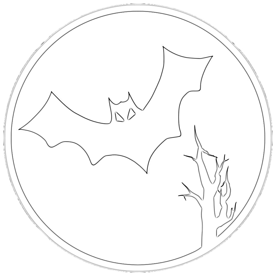 Spooky Halloween Bat Coloring Page