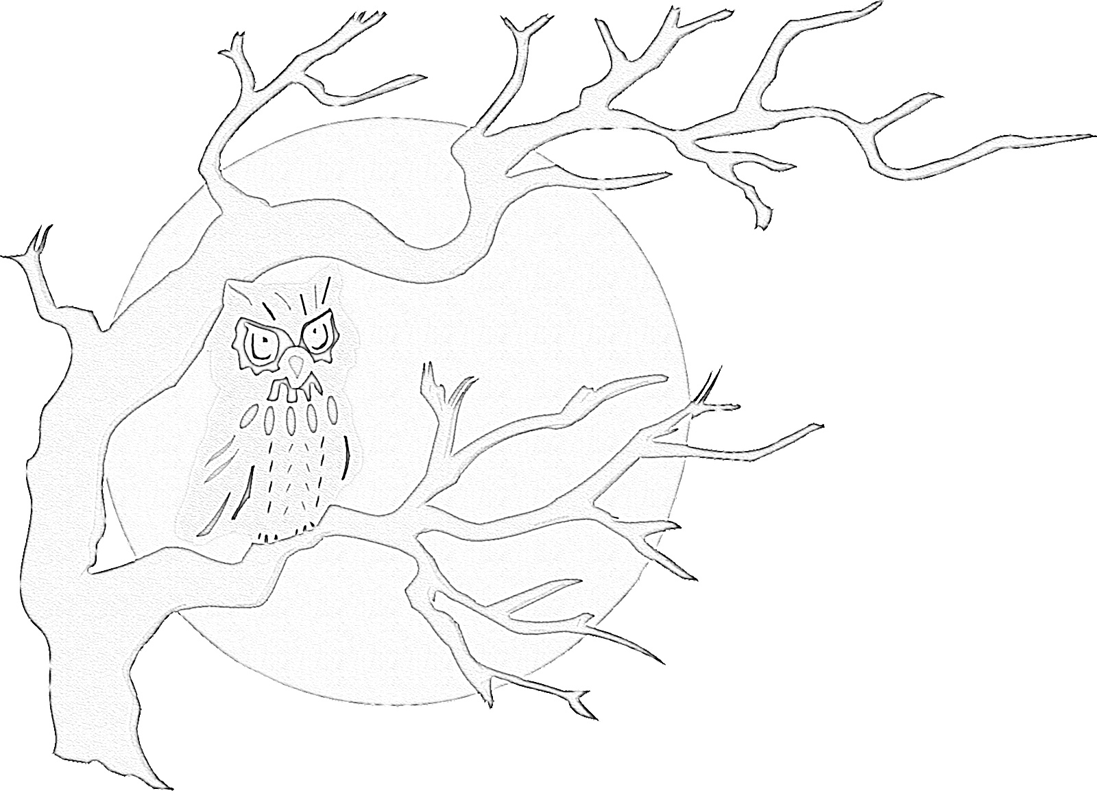 Spooky Halloween Owl Coloring Page