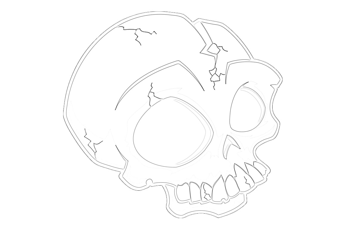Spooky Halloween Skull Coloring Page