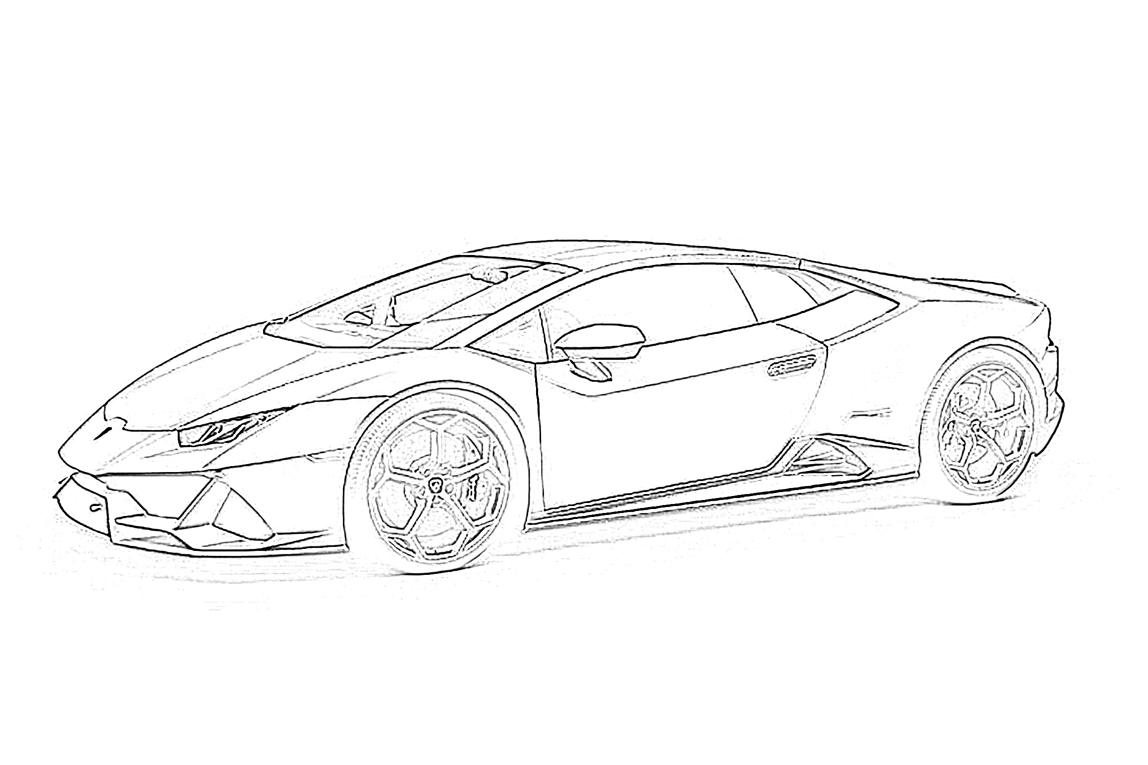 Sports car lamborghini coloring page