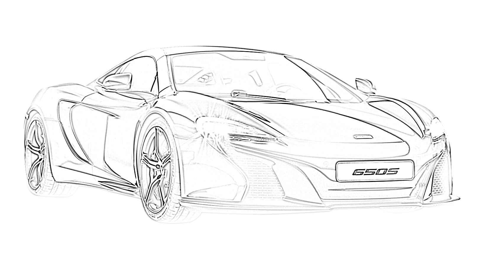 Sports car mclaren 6505 coloring page