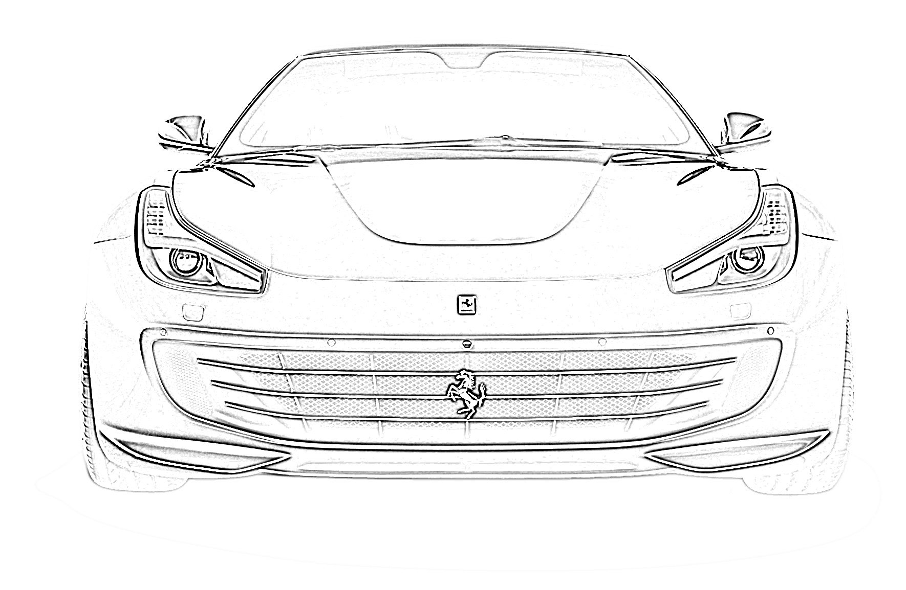 Sports car ferrari coloring page