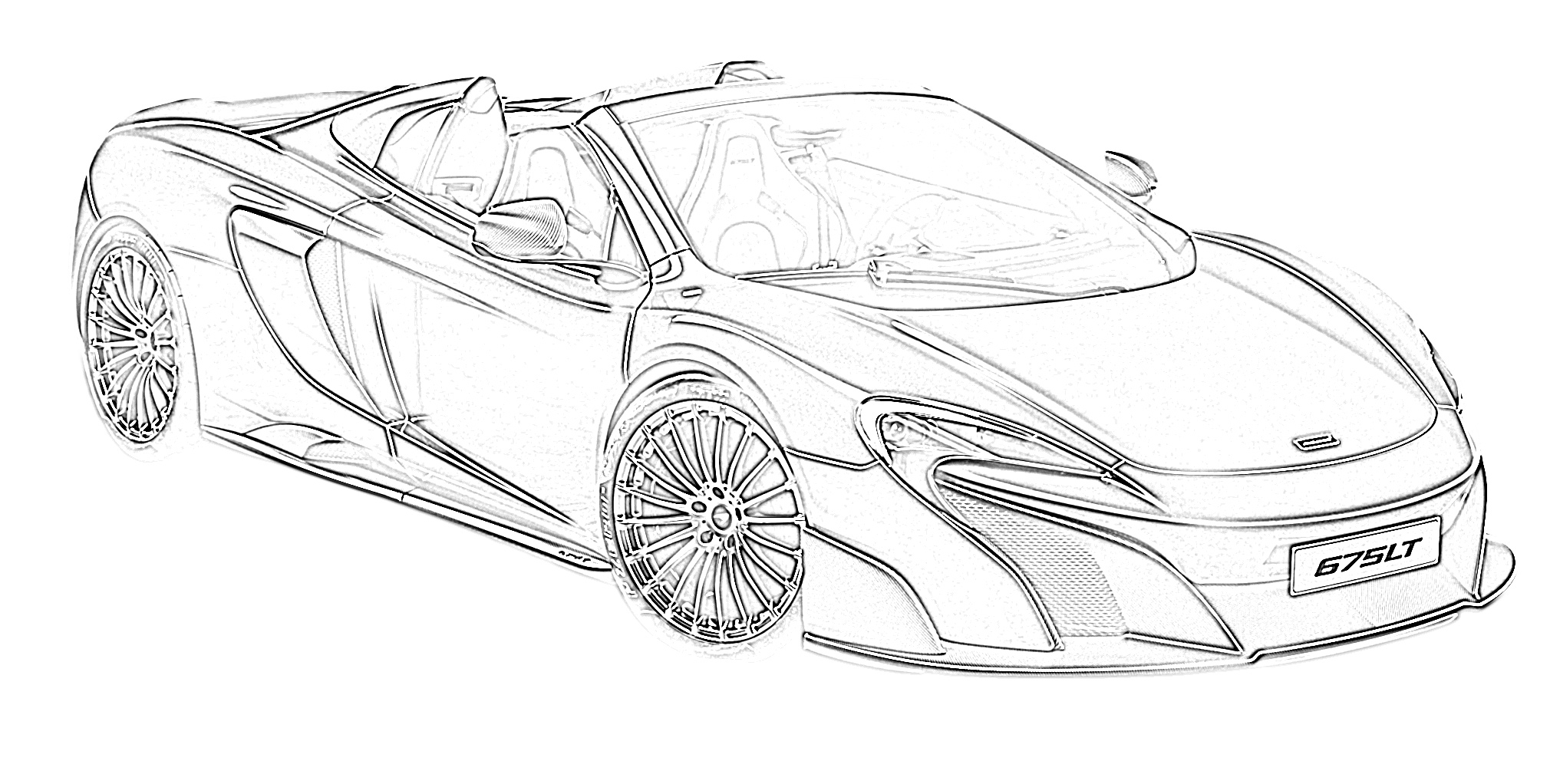 Sports car mclaren 675LT coloring page