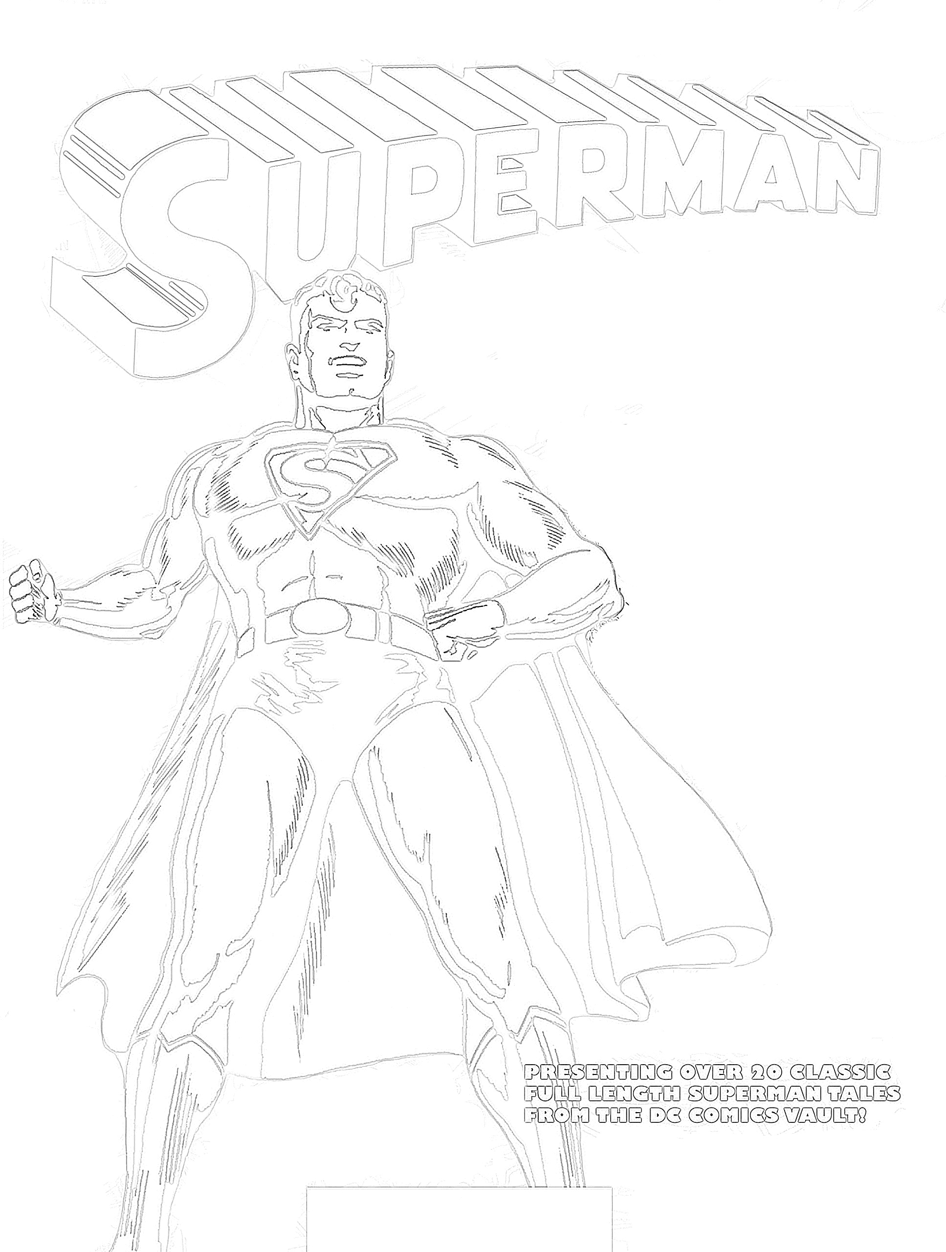 Superman comic book coloring page