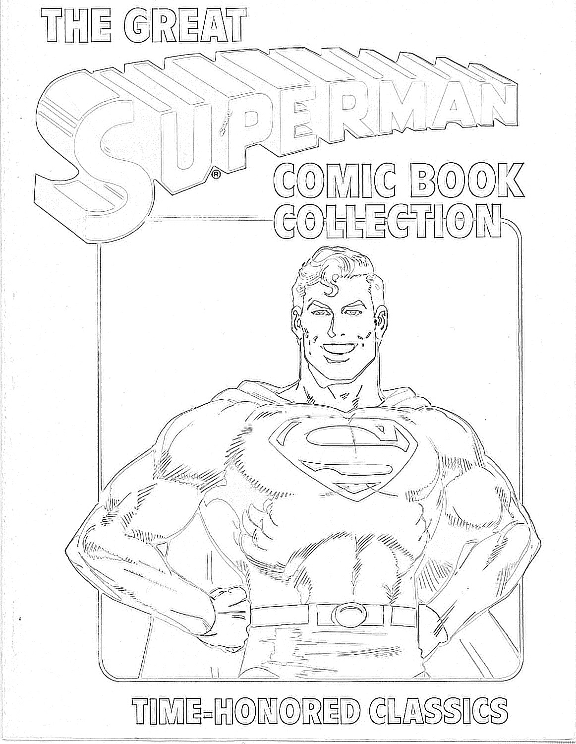 Superman comic book cover coloring page