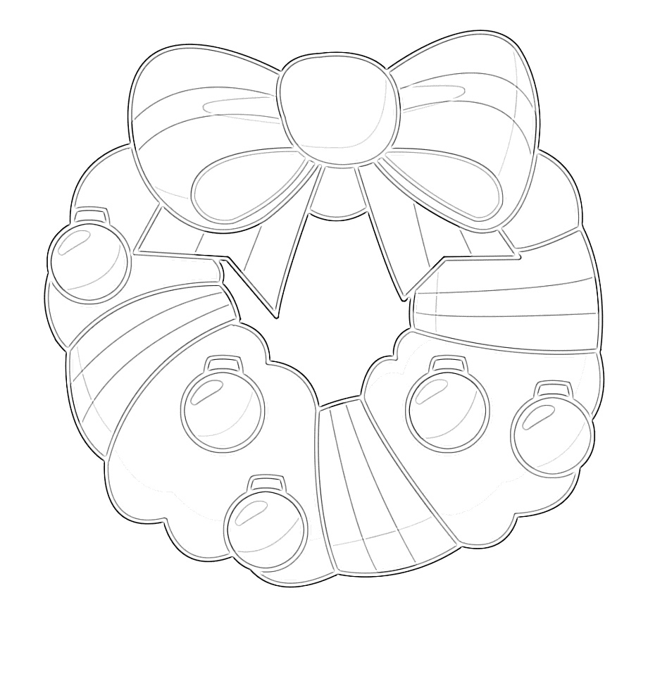 Tis' the Season Wreath Coloring Page