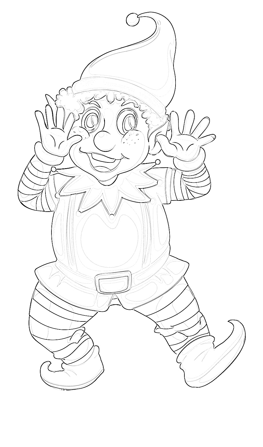 Tis' the Season Jolly Elf Coloring Page