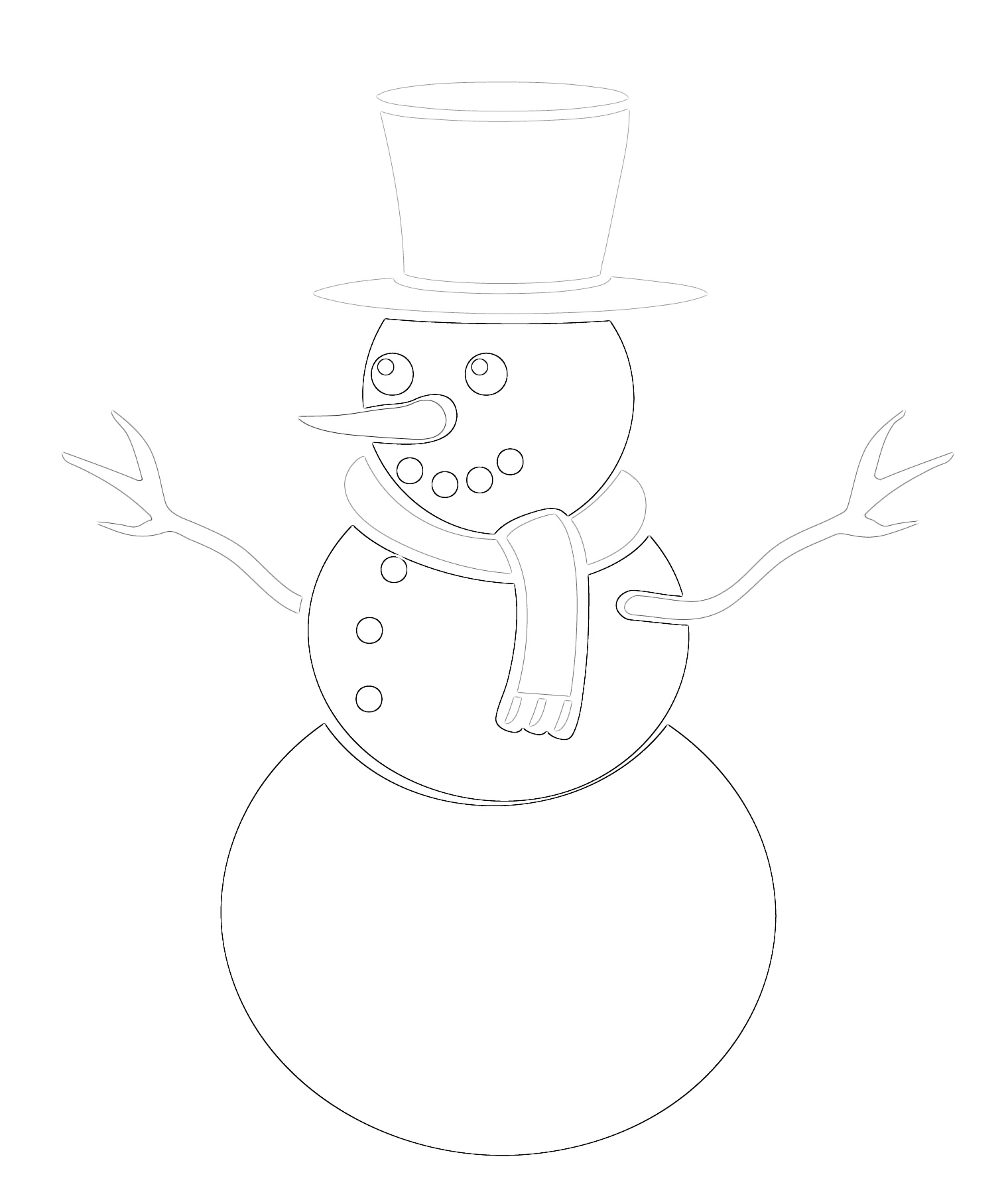 Tis' the Season Frosty the Snowman Coloring Page