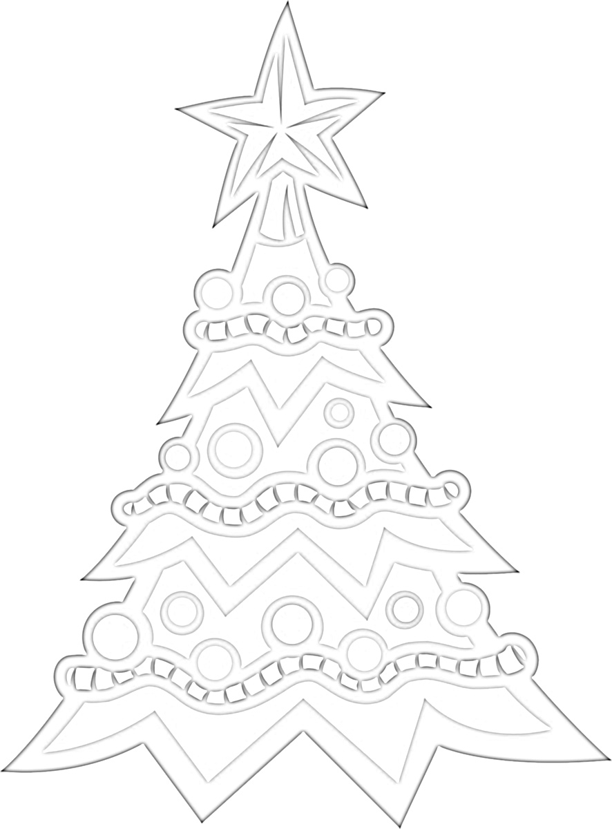 Tis' the Season Christmas Tree Coloring Page