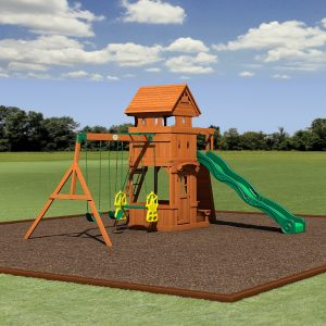 Backyard Discovery Monterey All Cedar Wood Playset Swing Set