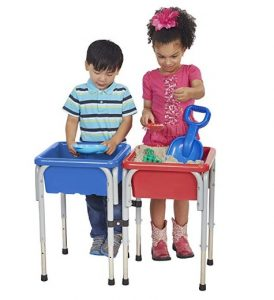 ECR4Kids Square Sand and Water Tables (with Lids)