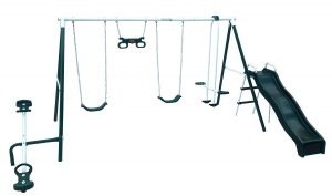 Flexible Flyer Backyard Fun Swing Set with Plays