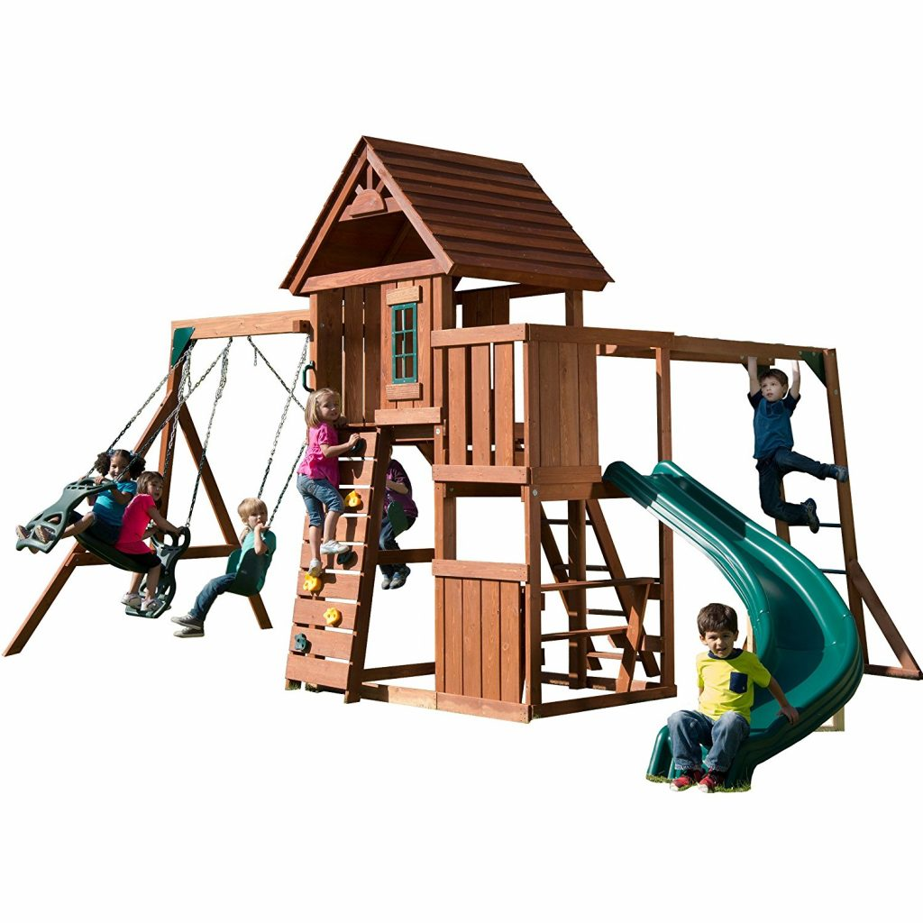 Swin-N-Slide-Wood-Complete-Play-Set-