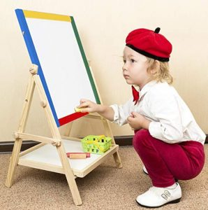 Wooden Easel Art Station Double Sided Folding