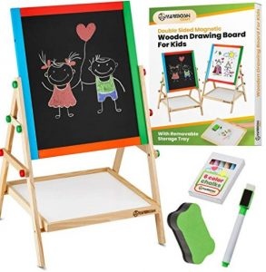 YARMOSHI My First Wooden Drawing Board Easel